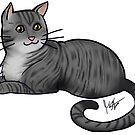 Dark Gray Tabby Cat by Jennifer Stolzer