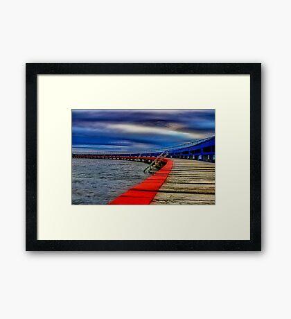 """Evening on the Promenade"" Framed Print"