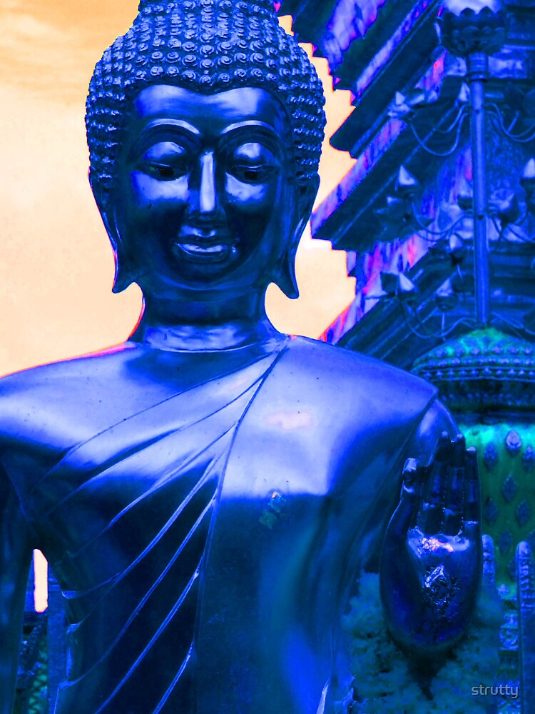Blue Buddha by strutty