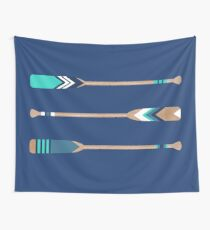 Painted Paddles Wall Tapestry