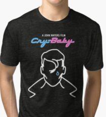 Cry Baby  Johnny Deep - John Waters Cult Bizarre Movie Tri-blend T-Shirt