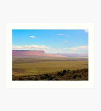South west United States desert landscape Art Print