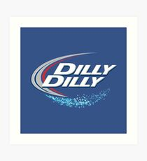 Dilly Dilly Mens Beer Design Art Print