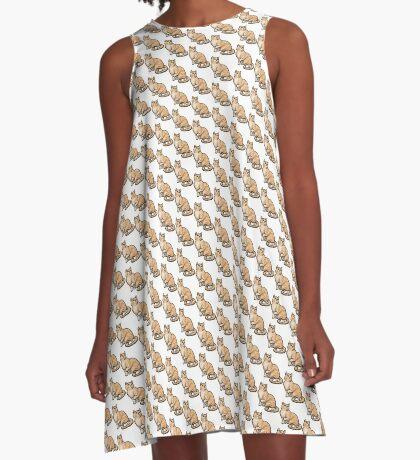 Big Tabby Cat A-Line Dress