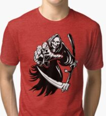 Grim Reaper Creeping Death Tri-blend T-Shirt