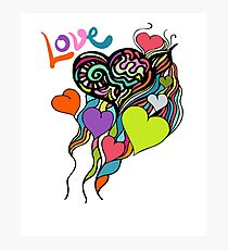 Colorful Love Design Photographic Print