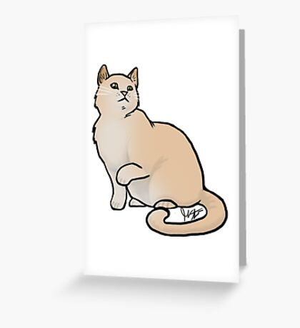 Big Yellow Cat Greeting Card