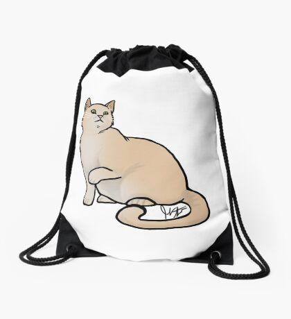 Big Yellow Cat Drawstring Bag