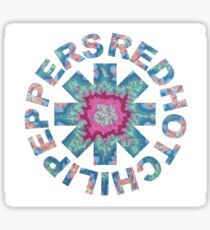 Colorful Red Hot Chili Peppers Sticker  Sticker
