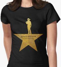 HARRINGTON: An American Babysitter (gold texture) Women's Fitted T-Shirt