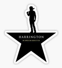 HARRINGTON: An American Babysitter (black) Sticker