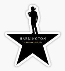 Pegatina HARRINGTON: Una niñera estadounidense (negro)