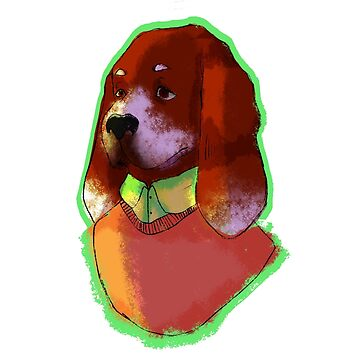 Portrait of a Hound by candiedbutcher