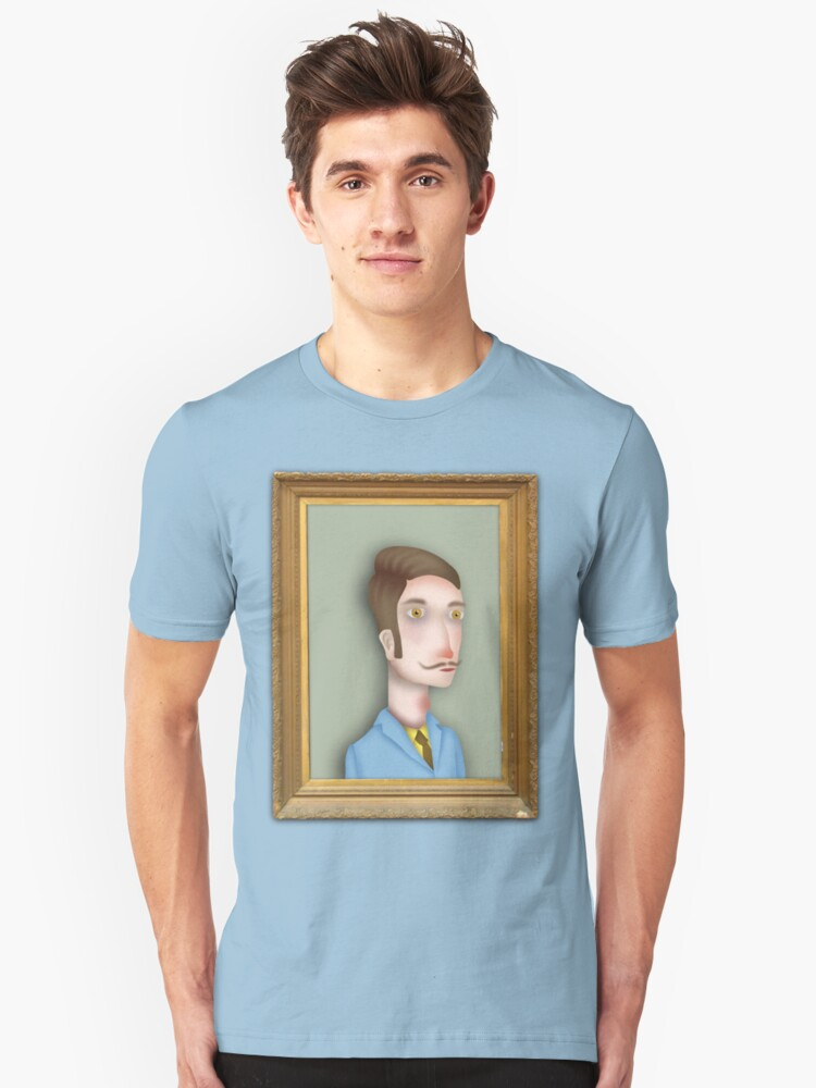 Man portrait by RADIOBOY Unisex T-Shirt Front