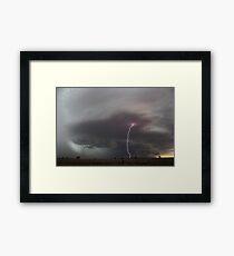 Piercing lightning strobes ahead of storm northern NSW Framed Print