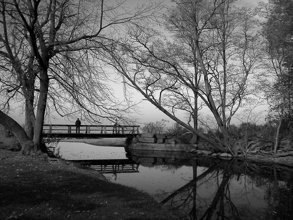 Black and White/ On the Bridge by madmac57