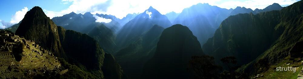 Machu Picchu Mountains by strutty