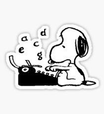 Snoopy x Typewriter Sticker