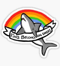 Pegatina Las aletas pertenecen a los tiburones