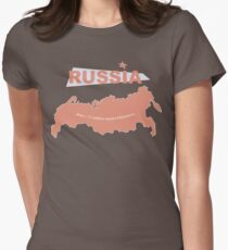 infographics Russia Women's Fitted T-Shirt