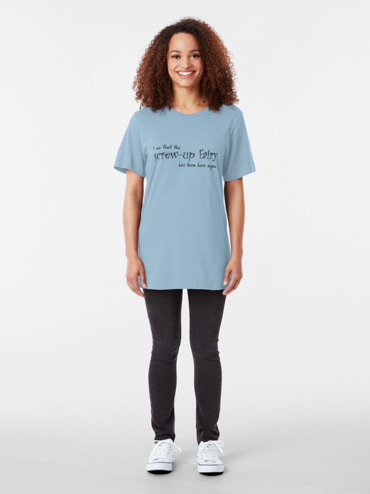 Alternate view of Screw-Up Fairy Slim Fit T-Shirt
