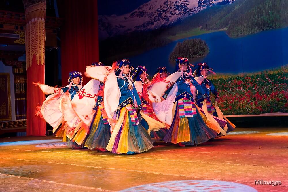 Tibetan Dancers by MiImages