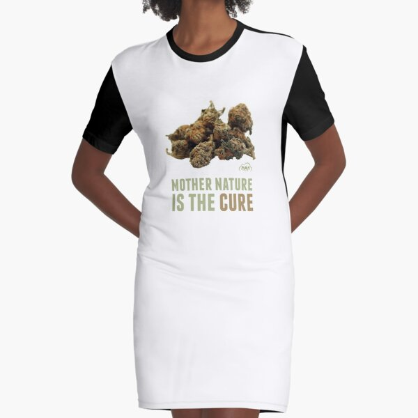 Mother Nature is the Cure Graphic T-Shirt Dress