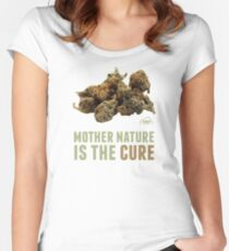 Mother Nature is the Cure Fitted Scoop T-Shirt