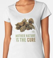 Mother Nature is the Cure Premium Scoop T-Shirt