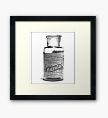Bayer Heroin Bottle Framed Print