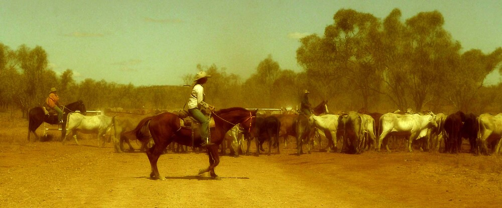 More outback cattle muster by Pearlie