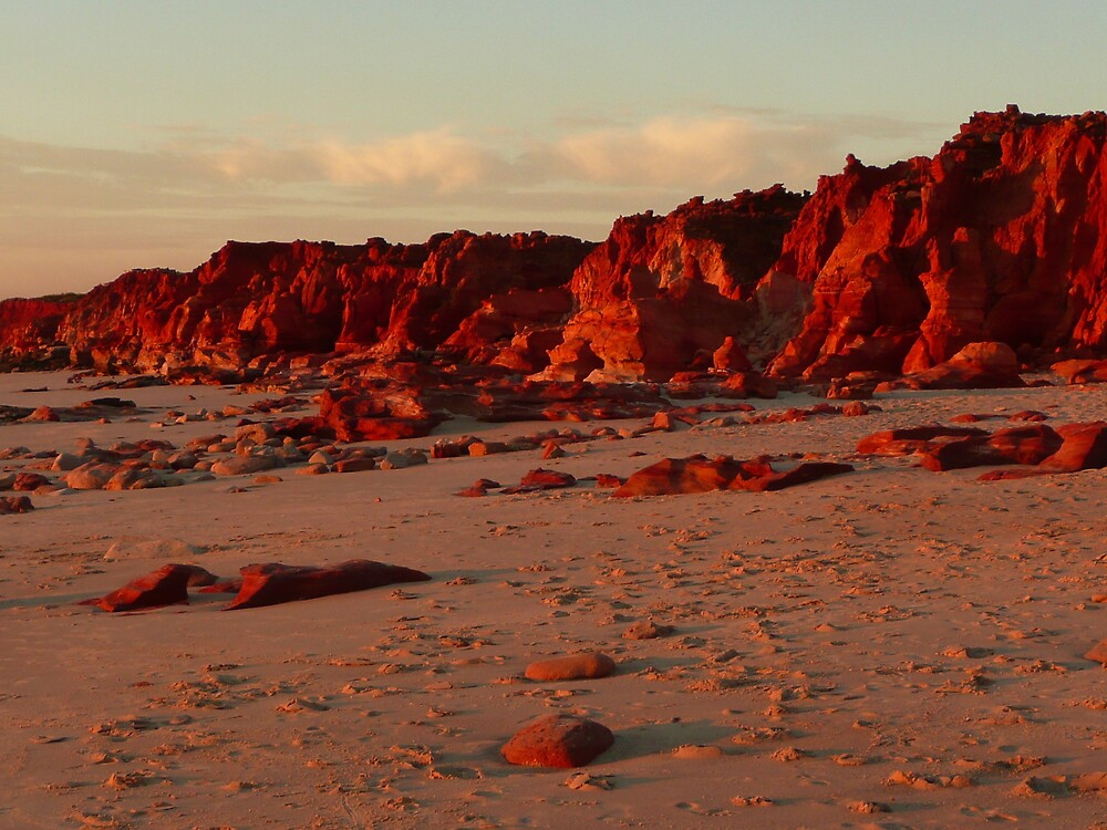 Cape Leveque 'sunset on the rocks' by Pearlie