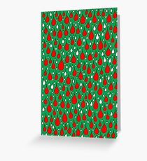 Christmas red white drops Greeting Card