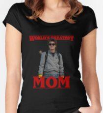 World's Greatest Mom | Steve Harringon | Stranger Things Women's Fitted Scoop T-Shirt