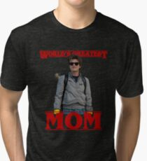 World's Greatest Mom | Steve Harringon | Stranger Things Tri-blend T-Shirt