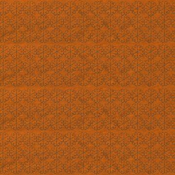 Desert Small Metal Flowers Pattern Fabric by yallmia