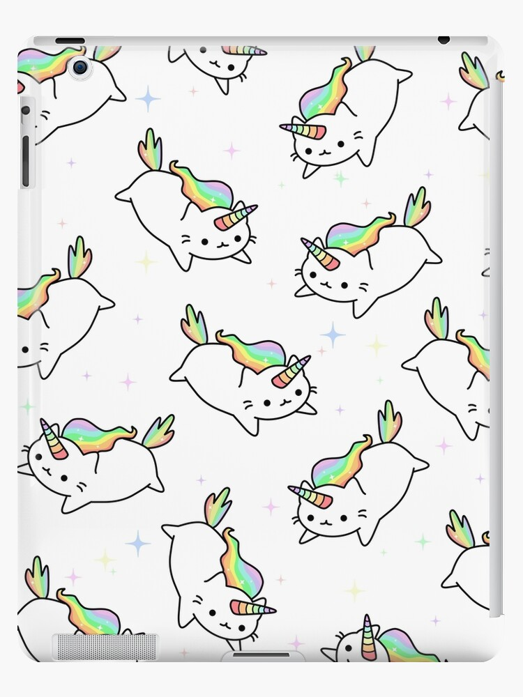 Regenbogen Einhorn Katze Muster von artbybee7