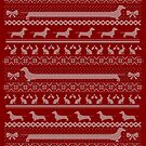 Ugly Christmas sweater dog edition - Dachshund red by Camilla Mikaela Häggblom