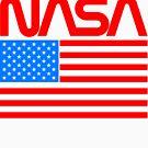 NASA Retro Logo Shirt by eddycasanta