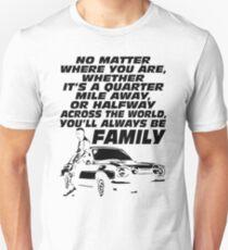 Fast 8 - Paul Walker Forever - White Unisex T-Shirt