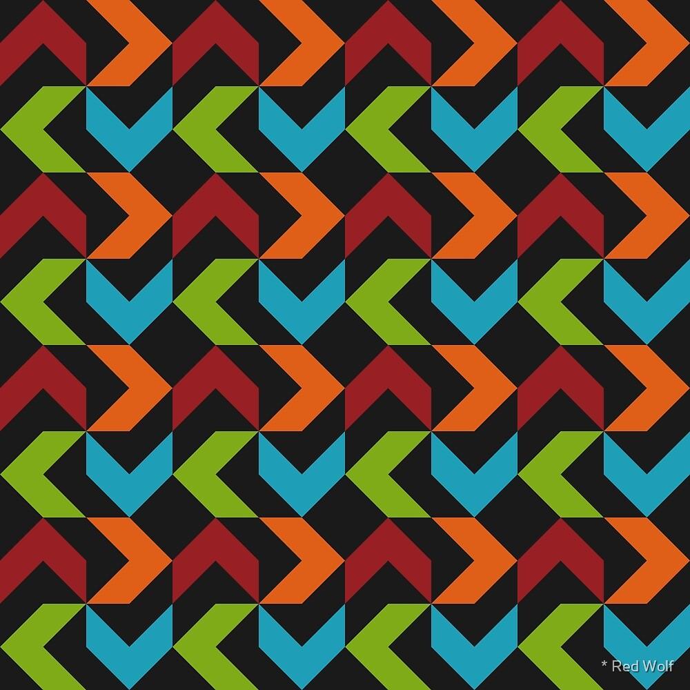 Geometric Pattern: Chevron: Winter by * Red Wolf