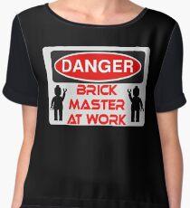 Danger Brick Master at Work Sign Women's Chiffon Top