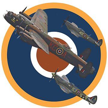 The Battle of Britain Memorial Flight Tee Shirt 2 by Arrowman