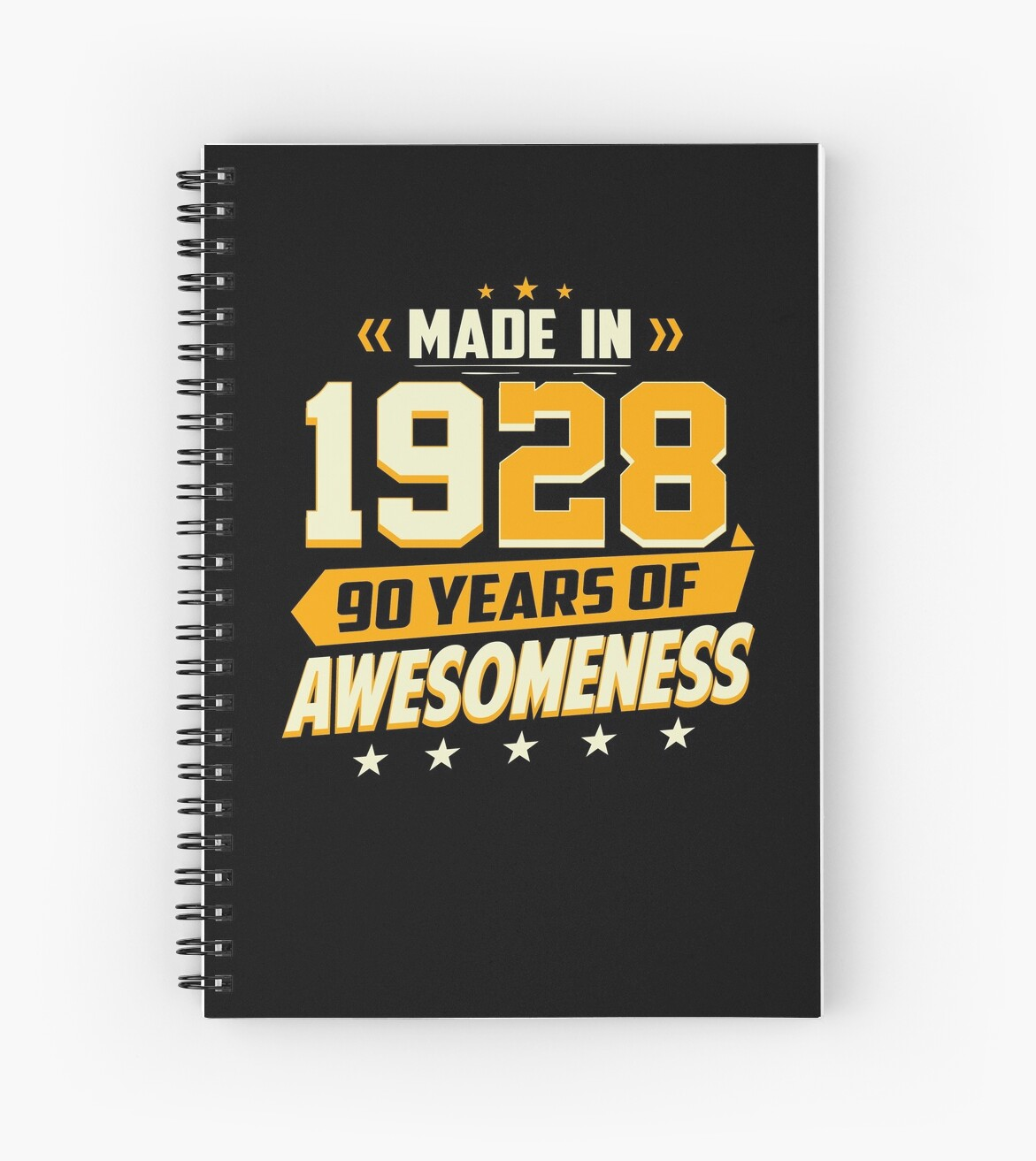 90th Birthday Vintage 90 Year Old Men Women Gifts Spiral Notebooks