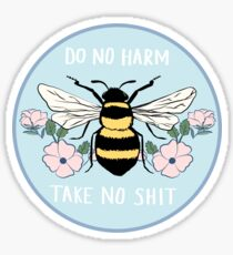 Do No Harm - Take No Shit Sticker