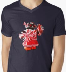 Cheerbot Mens V-Neck T-Shirt