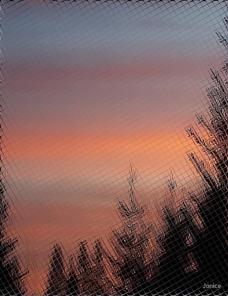 Sunset Card Tile Reflection by Jonice