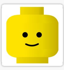 Smiley Minifig Head by Customize My Minifig Sticker