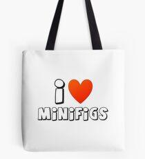 I Love Minifigs Tote Bag