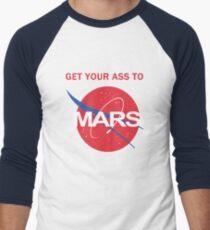 Camiseta ¾ bicolor para hombre Lleva tu culo a Marte